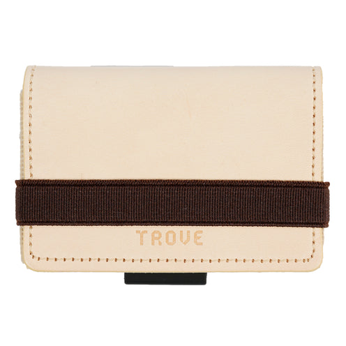 TROVE Cash Wrap: Beige/Pink Leather and Brown