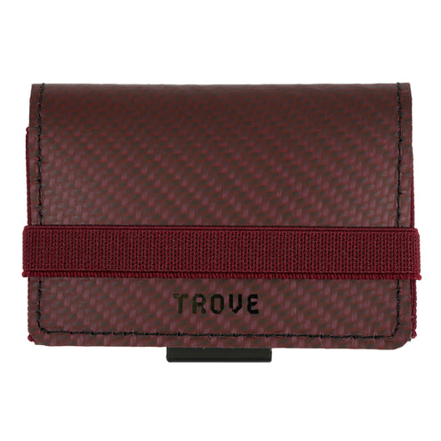 TROVE Cash Wrap: Red Carbon Fibre