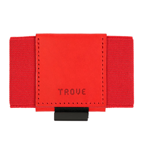 Trove Wallet in Red | Unique Slim Wallet | Made in England