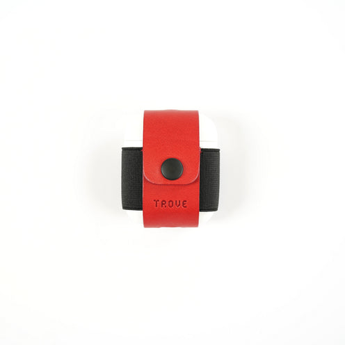 TROVE Pod Pocket: Red/Black Leather