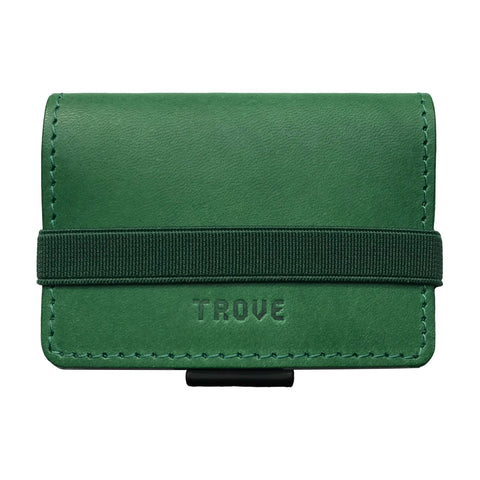 TROVE Cash Wrap: Green Leather