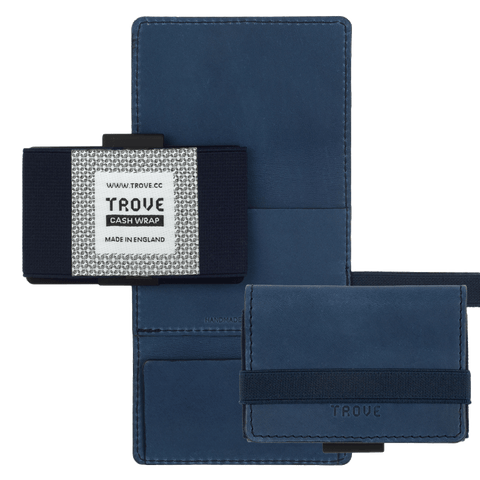 TROVE Cash Wrap: Navy Blue Leather