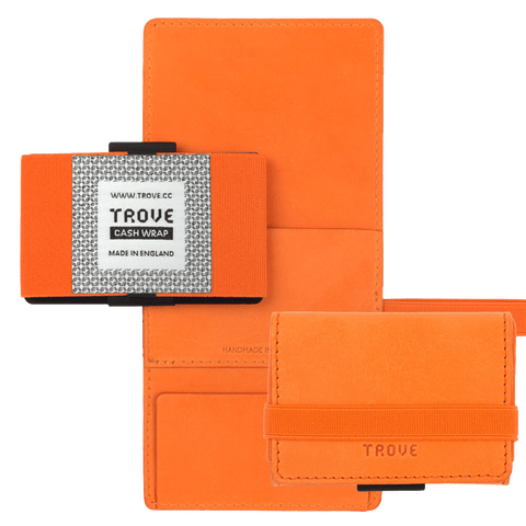 TROVE Cash Wrap: Orange Leather