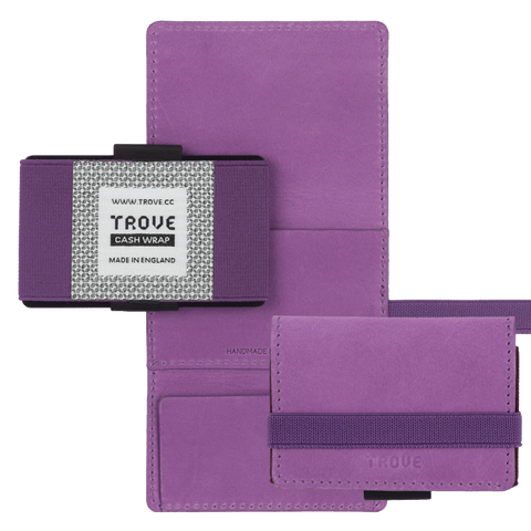 TROVE Cash Wrap: Purple Leather