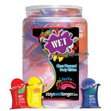WET Flavored Lubricant 10ml 144 Stk SOS