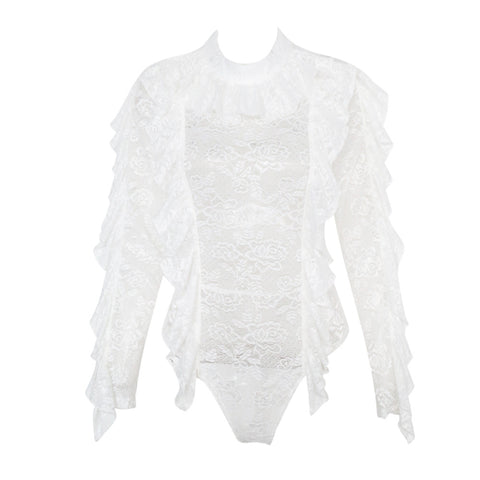Downton Lace Bodysuit (White)