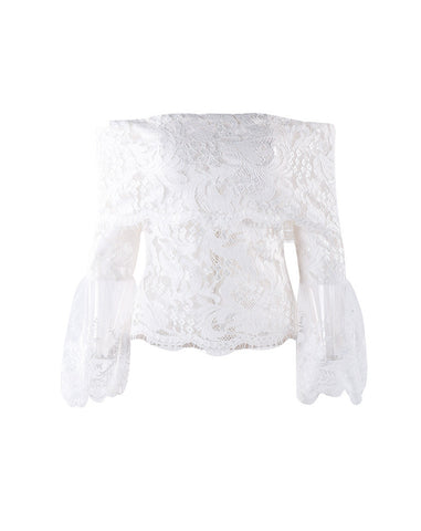 Belle Lace Ruffled Blouse