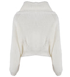 Cream Knitwear Long Sleeves Sweater Top