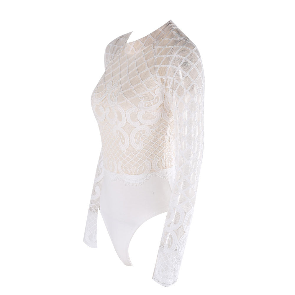 Arctic Fox Lace Bodysuit