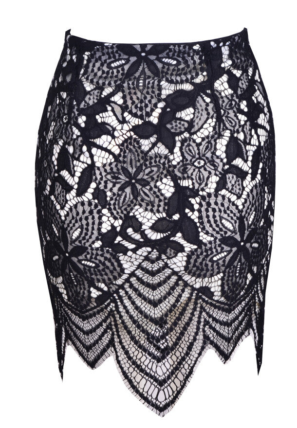 Maisie Lace Skirt (Black)