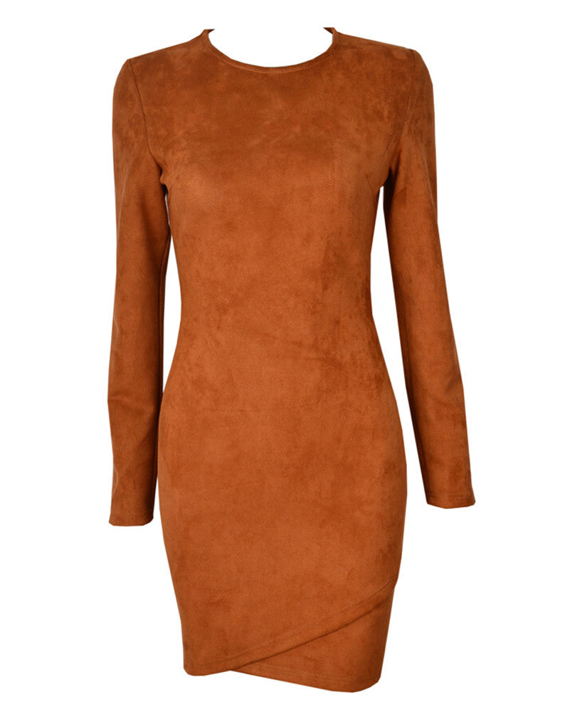 Bring It On Suede Dress