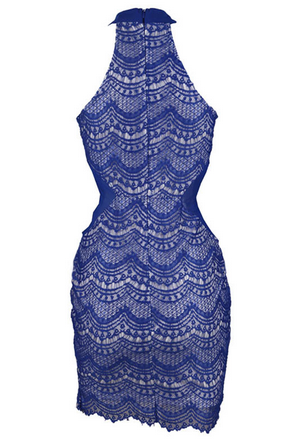 Say Yes Lace Dress (Navy Blue)