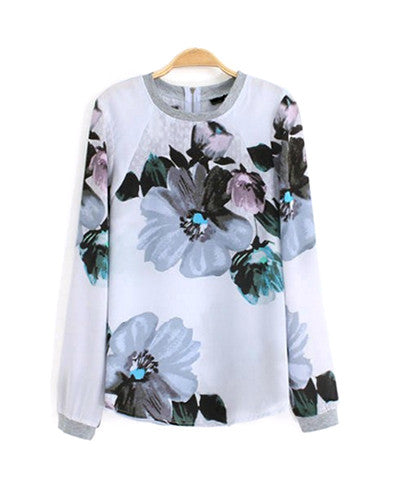 Heather Floral Pullover Top