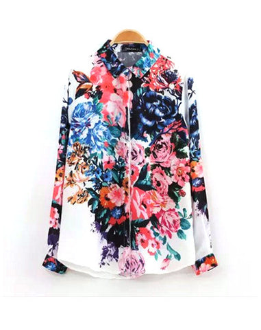 Florals Burst Blouse Top