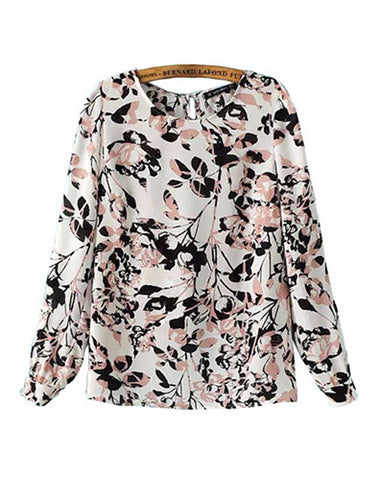 Cherry Blossoms Floral Blouse Top