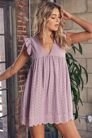 The Shady Romper - Lavender