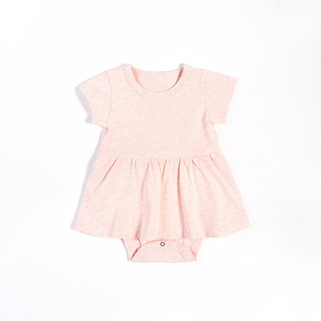 Heather Pink Peplum Onesie
