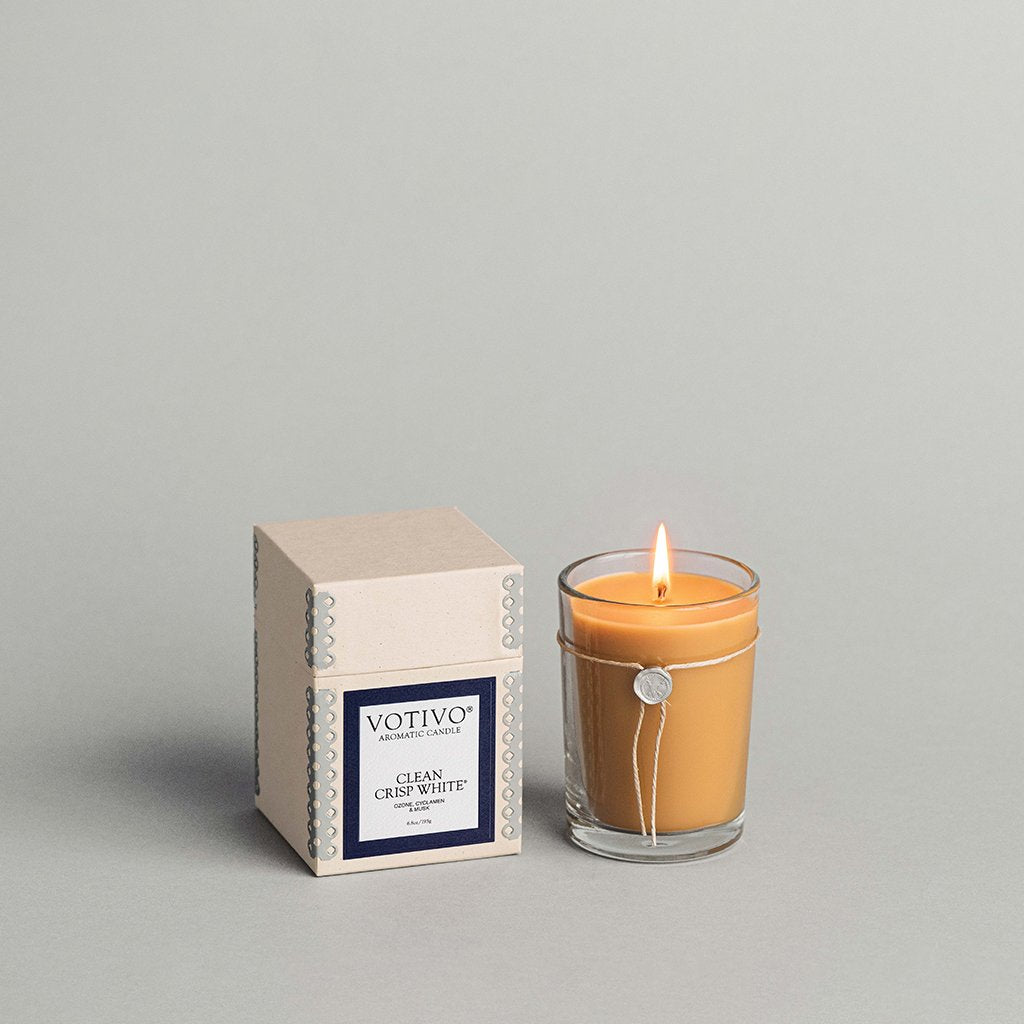 6.8 oz Aromatic Candle - Clean Crisp White