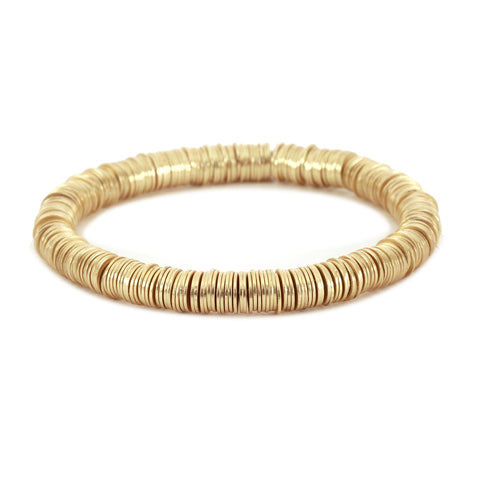 Gold Metal Stretch Bracelet