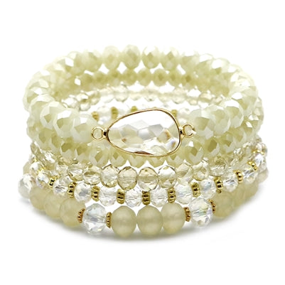 Layered Bracelet - Natural Crystal