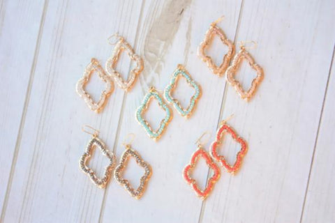 Geometric Beaded Earring