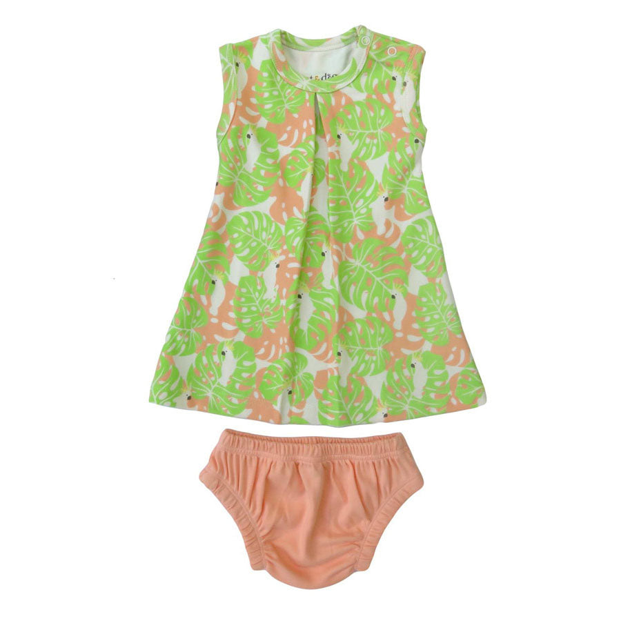 Tropical Camo + Rose Dress Set -O