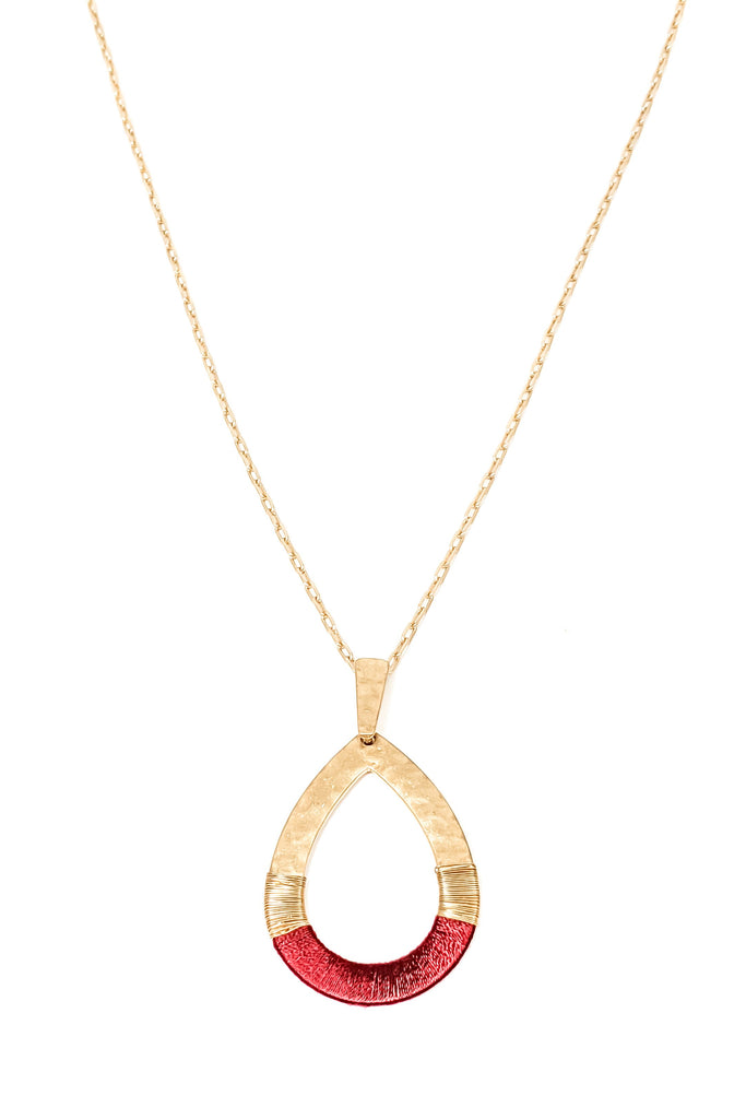 Cayley Necklace - Burgandy