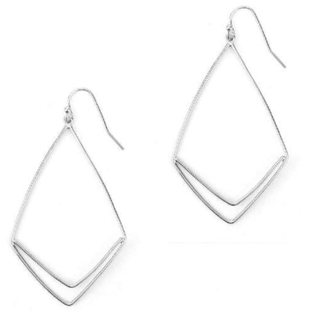 The Triangle Drop Earring - Silver