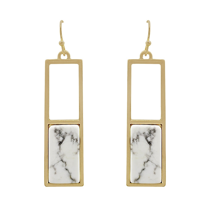 The Rectangle Stone Earring