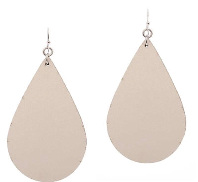 Ivory Vegan Leather Earring