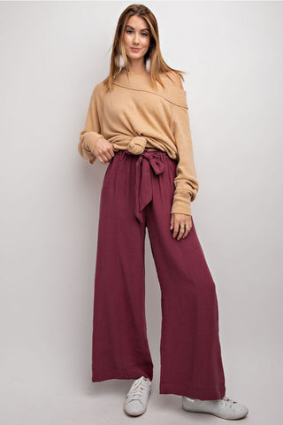 Faded Plum Wide Leg Pant