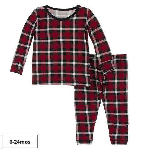 L/S Pajama Set - Crimson Holiday Plaid