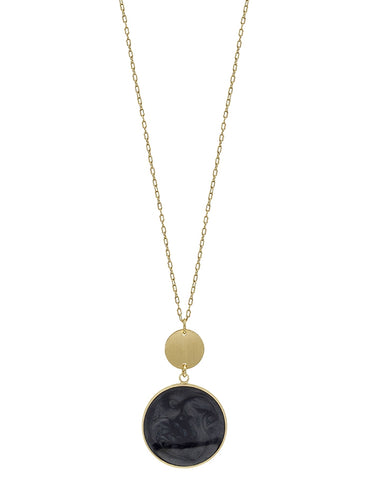 Black Gold Pendant Necklace