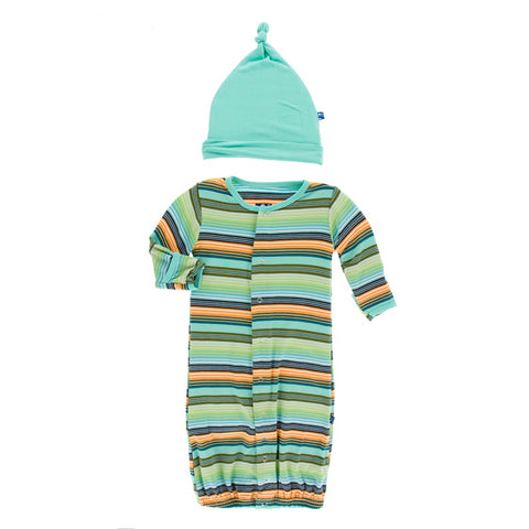 Converter Gown & Knot Hat - Cancun Glass Stripe -D
