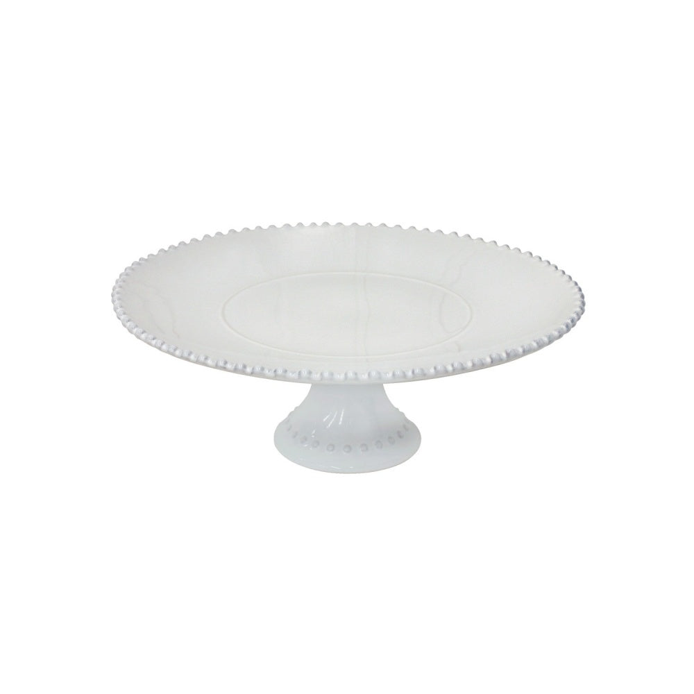 Costa Nova Medium Cake Plate, Pearl White - G/B