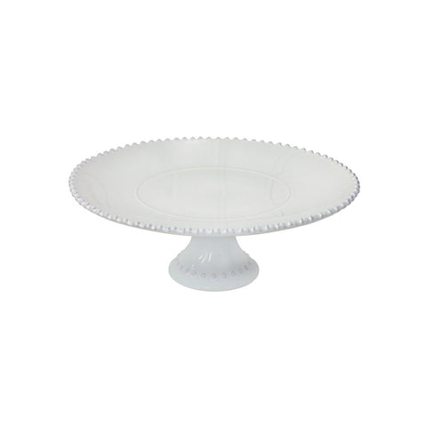 Costa Nova Medium Cake Plate, Pearl White