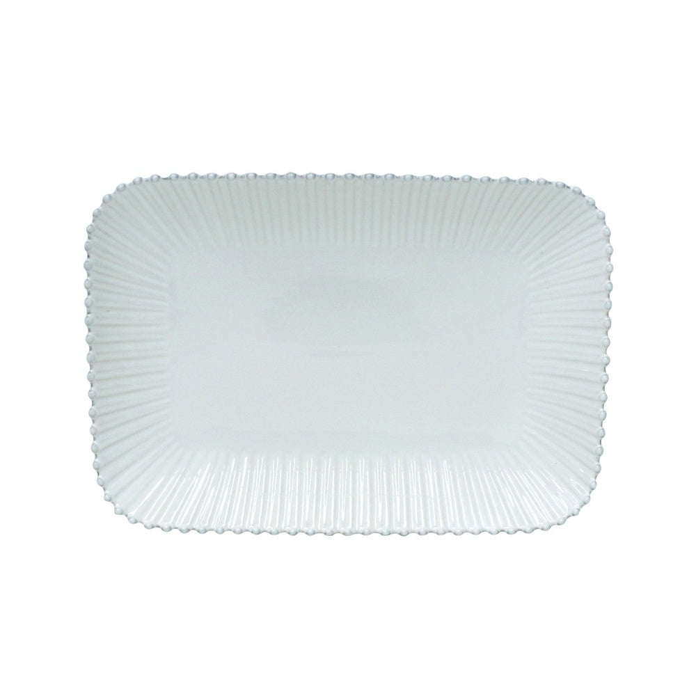Costa Nova Rectangular Platter, Pearl White