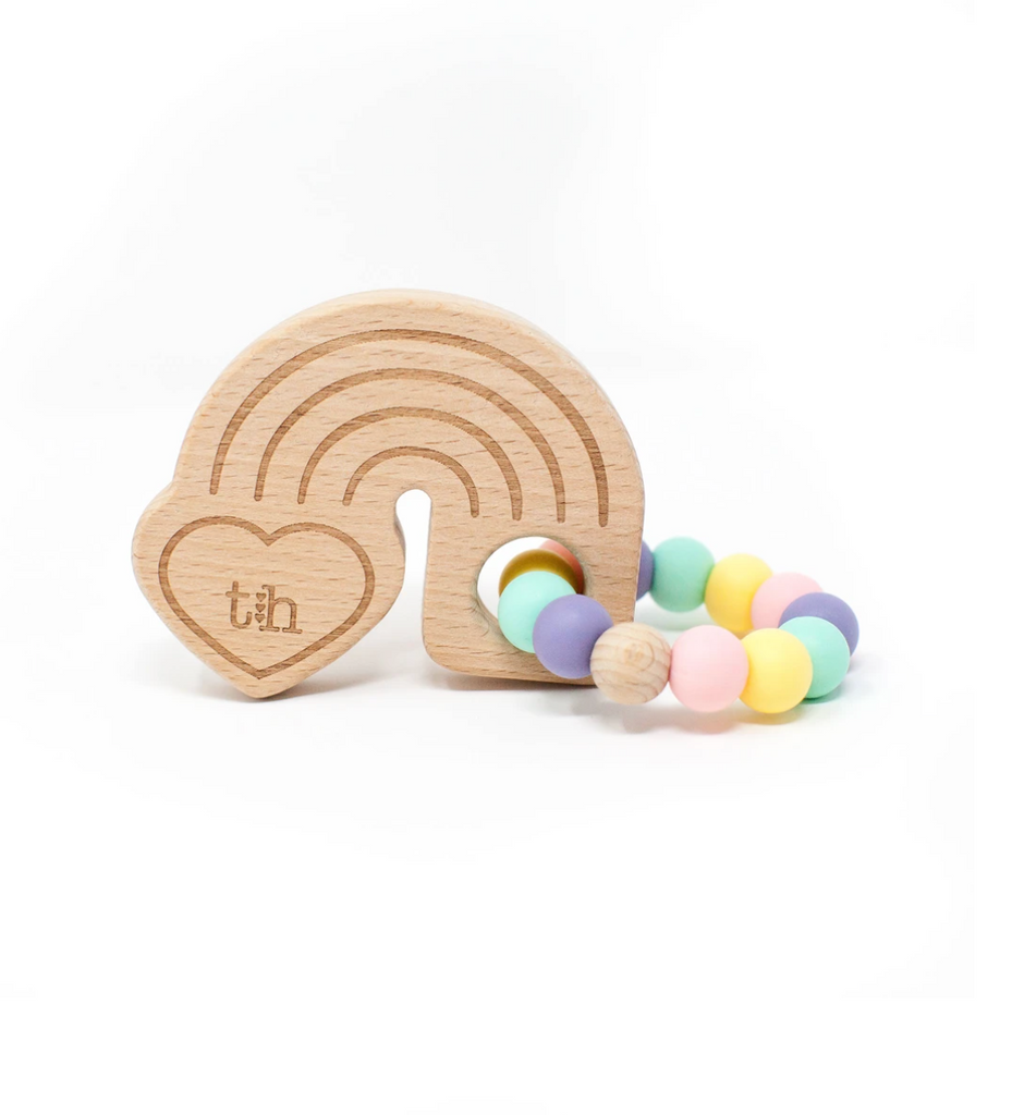 Rainbow Wooden Teether -Steffen