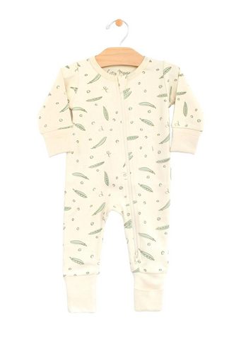 2 Way Zip Romper - Peas