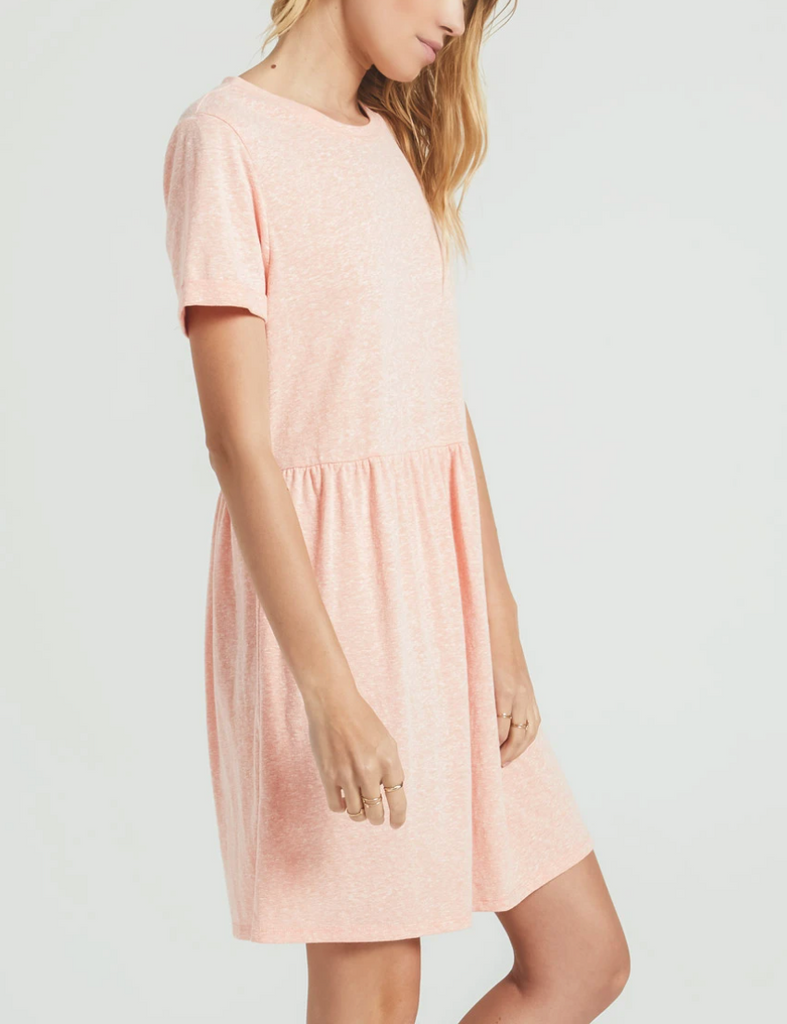 Lucia Triblend Dress - Coral Almond