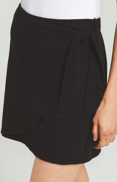 Dawn Crinkle Skirt - Black