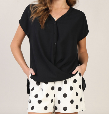The Twisted Work Top - Black