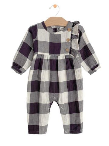The Crinkle Button Romper