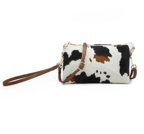 The Riley Crossbody - Cow Print
