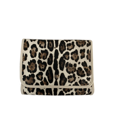 PurseN Getaway Toiletry Case - Cream Leopard
