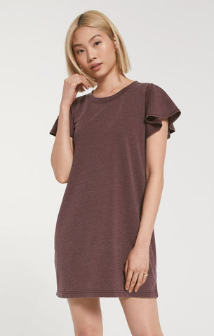 The Farren Tee Dress - Merlot