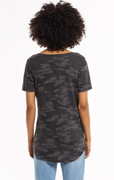 The Camo Pocket Tee - Dark Charcoal