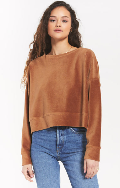 Astrid Cord Pullover - Camel