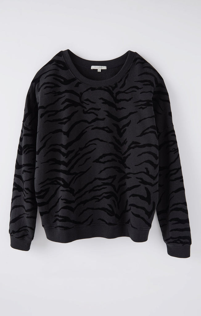 Marin Tiger Flocked Sweatshirt
