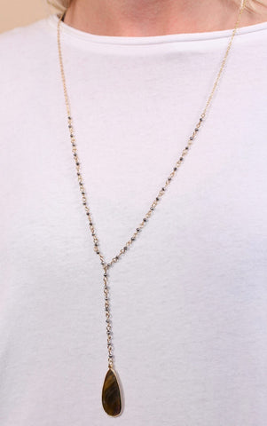 Aven Beaded Drop Necklace